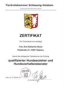 Zertifikat Schleswig-Holstein